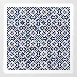Blue Portugal Tiles #3 Art Print