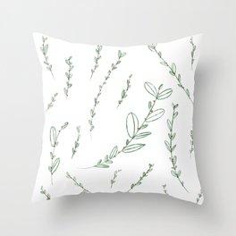 Mistletoe Winter Berry Throw Pillow