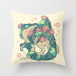 Aquatic buddies Throw Pillow