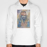 jack sparrow Hoodies featuring Jack Sparrow by Nicola Girello