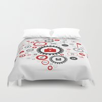 medicine Duvet Covers featuring Medicine gear wheel by aleksander1