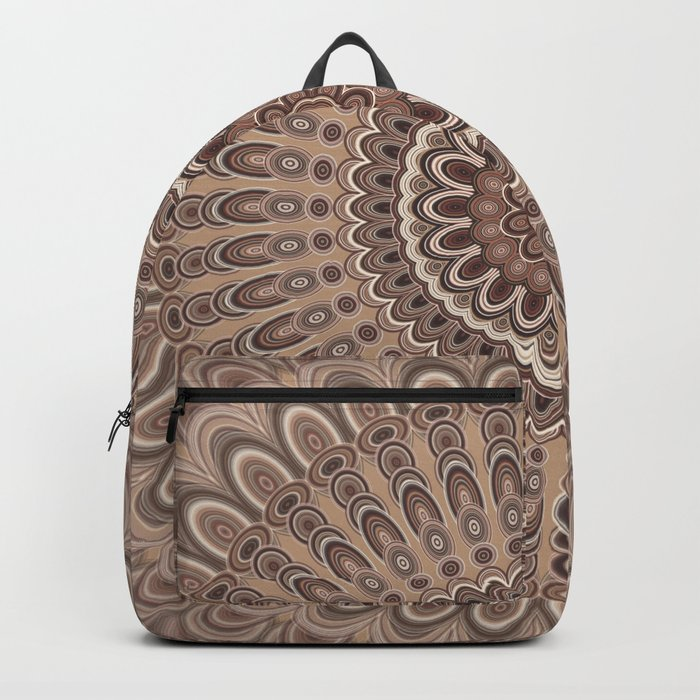Cappuccino mandala Backpack