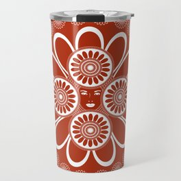 Red Art Nouveau Design Travel Mug