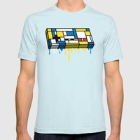 The Art of Gaming SMALL Light Blue Mens Fitted Tee