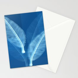 Blueprint Leaves Stationery Cards
