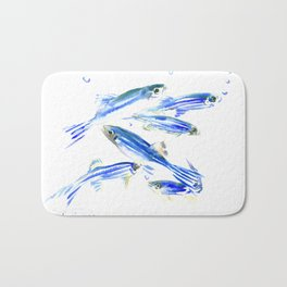 Blue Fish Aquatic fish design Bath Mat