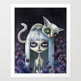 Felina de los muertos Art Print