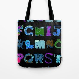 Bendy Zoo Alphabet Animals Tote Bag