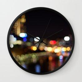 Light Art | Melbourne city (Yarra River) Wall Clock