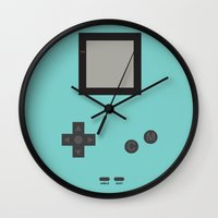 gameboy Wall Clocks featuring Gameboy by M. C.Tees
