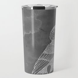 ATHENA'S OWL IN GREY BACKGROUND  Travel Mug