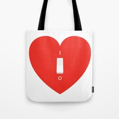 Switch Off My Heart Before You Leave Tote Bag