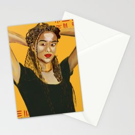 The Dancer #Painting #Portrait Stationery Cards