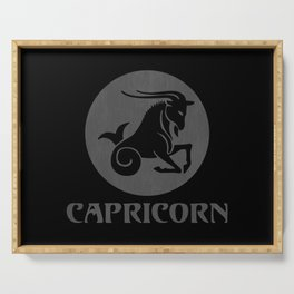 Capricorn Astrological Sign Serving Tray