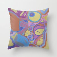 shells Throw Pillows featuring SHELLS by Valentina Paglia