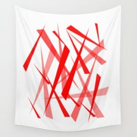 chaos Wall Tapestries featuring chaos by Sébastien BOUVIER