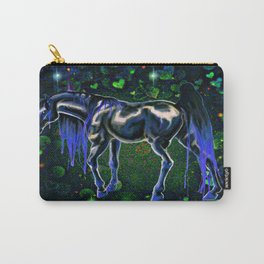 Blue Love Horse Carry-All Pouch