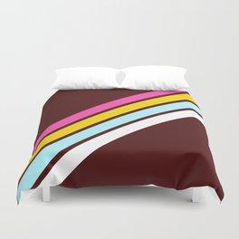 80's Style Retro Stripes Duvet Cover