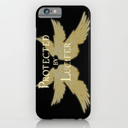 Protected by Lucifer Light iPhone Case