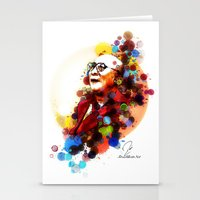 lama Stationery Cards featuring Dalai Lama by Rene Alberto