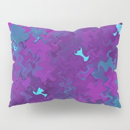 Pink, Purple, and Blue Waves Pillow Sham
