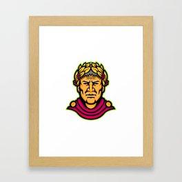 Gaius Julius Caesar Mascot Framed Art Print