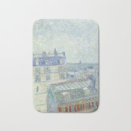 Van Gogh - View from Theo's Apartment, 1887 Bath Mat