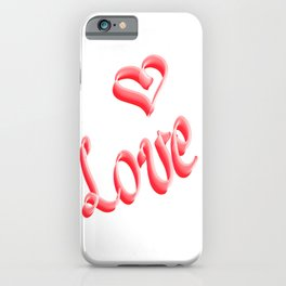 How to show Love iPhone Case