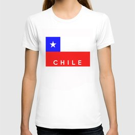 Chile country flag name text T-shirt