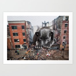 Demolition Dog Art Print