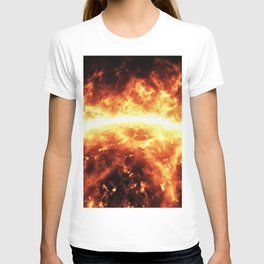 Sun surface with solar flares T-shirt