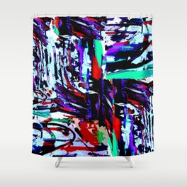 Stress Painting Shower Curtain