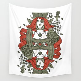 SINS Mentis - Greed Queen of Diamonds Wall Tapestry