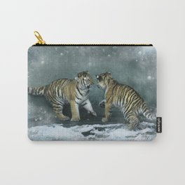 Playful Tiger Cubs Carry-All Pouch