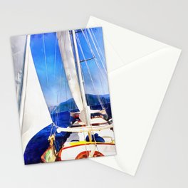 Land Was Created For Boats To Visit Stationery Cards