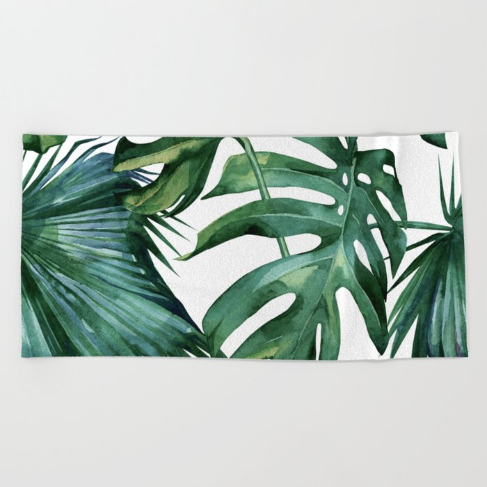 Simply Island Palm Leaves Beach Towel By Followmeinstead