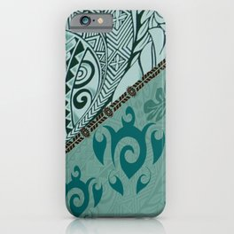 Hawaiian Tapa Cloth - Traditional Print iPhone Case