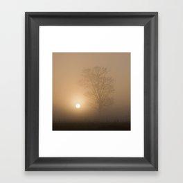 Sunrise over Wramplingham, Norfolk Framed Art Print