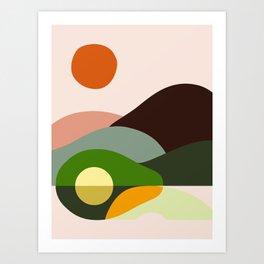 Abstraction Avocado Mountains Art Print