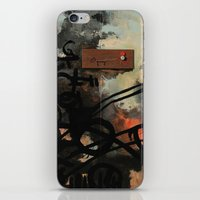 chad wys iPhone & iPod Skins featuring Dog Walker (A collaboration by Chad, Gabi, and Emily Beroth) by Chad Beroth