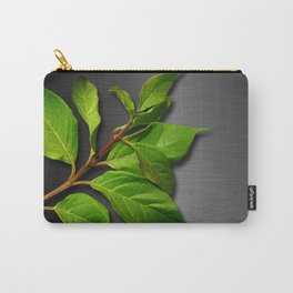 Green Leaves & Metallic Background Carry-All Pouch