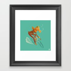 I want to ride my bicycle! Framed Art Print