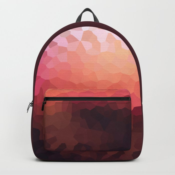 Abstraction. Sunset . Backpack