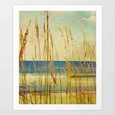 Vintage Lomo Style Beach  Art Print