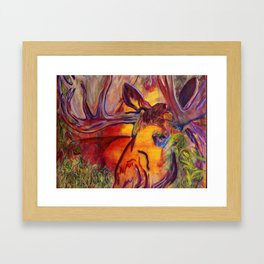 enchanted moose Framed Art Print