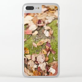 Forest Floor Clear iPhone Case