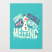 risa rodil Canvas Prints featuring Worth melting for by Risa Rodil