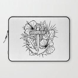 Hawaiian Anchor Illustration Laptop Sleeve
