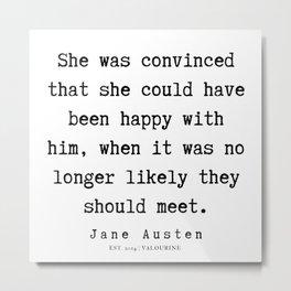 83     | Jane Austen Quotes | 190722 Metal Print
