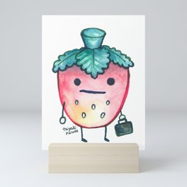 Salary Strawberry Mini Art Print